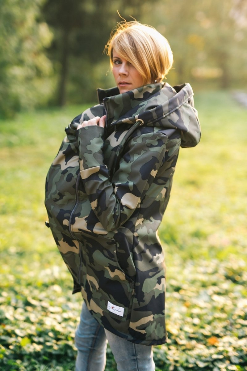 Lenka softshell bunda 2v1 Army - L