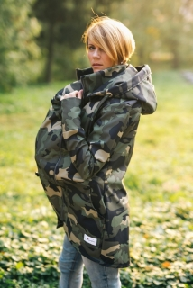 Lenka softshell bunda 2v1 Army - M
