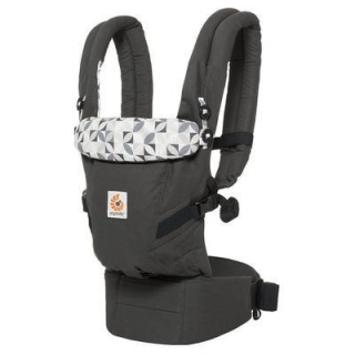 ERGOBABY ADAPT Graphic Grey + zavinovačka