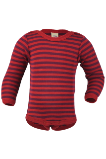 Merino/hedvábí body Engel - cherry - 74/80