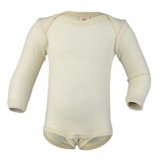 Merino/hedvábí body Engel - natural - 62/68
